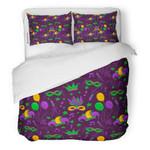 Balloon Carnival Mask Confetti Trumpet Crown Ribbon Bedding Set Bedroom Decor