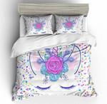 3d Kids Flowers Unicorn Eye Bedding Set Bedroom Decor