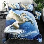 Flying Unicorn The Moon Bedding Set Bedroom Decor