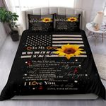 I Love You To My Wife Sunflower Bedding Set Bedroom Decor