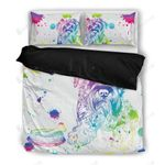 Schnauzer Watercolor White Background Bedding Set Bedroom Decor