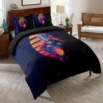 Pacific Rim Black Backdrop Pattern Printed Bedding Set Bedroom Decor
