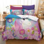 3d Colourful Flowers Unicorn Bedding Set Bedroom Decor