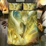 Gold Unicorn Universe Printed Bedding Set Bedroom Decor