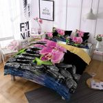 Stone Orchids Printed Bedding Set Bedroom Decor
