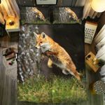 Fox Jumping Printed Bedding Set Bedroom Decor