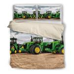Green Farmer Tractors Bedding Set Bedroom Decor