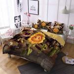 Plants Vs Zombies Sunflower Pattern Printed Bedding Set Bedroom Decor