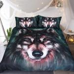Luxury Wolf Face Bedding Set Bedroom Decor