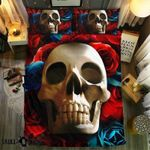 Reality Skull Collection Printed Bedding Set Bedroom Decor