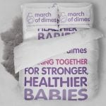 March Of Dimes Together For Stronger Healthier Babies Bedding Set Bedroom Decor