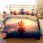 Yoga Zen Peaceful Printed Bedding Set Bedroom Decor