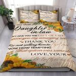 Gift For Daughter In Law Life Gave Me The Gift Of You Bedding Set Bedroom Decor