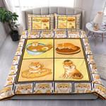 Adorable Shiba Food Bedding Set Bedroom Decor