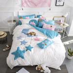 Reactive Dyes Lovely Cartoon Star 3D Bedding Set Bedroom Decor