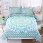 3d Bohemian Green Bedding Set Bedroom Decor