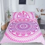 Pink Mandala Flower Bedding Set Bedroom Decor