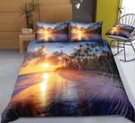 Tropical Style Beach Printed Bedding Set Bedroom Decor