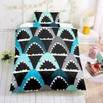 Shark Cartoon Mouth Printed Bedding Set Bedroom Decor