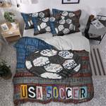 USA Soccer Vintage Bedding Set Bedroom Decor