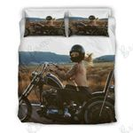Motorcycle Girl Sexy Bedding Set Bedroom Decor