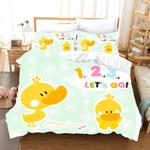 3d Funny Yellow Duck Let's Go Bedding Set Bedroom Decor