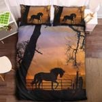 Sunset Farm Horse Printed Bedding Set Bedroom Decor