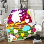 Stars Hearts Clouds With 3d Unicorns Pattern Bedding Set Bedroom Decor