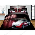 3d Bugati Veron Red Bedding Set Bedroom Decor