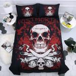 Sugar Skull Red Printed Bedding Set Bedroom Decor