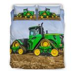 New Farmer Blue Tractor Bedding Set Bedroom Decor