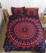 3d Bohemian Red Bedding Set Bedroom Decor