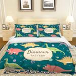 3d Cartoon Dinosaur Green Bedding Set Bedroom Decor