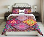 Geometric Pattern Bright Colour Printed Bedding Set Bedroom Decor