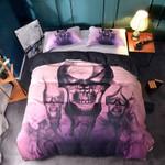 Smoke Flame Skull Printed Bedding Set Bedroom Decor
