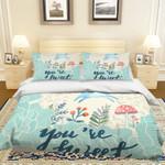 3d Cartoon Rabbit Flower Mushroom Bedding Set Bedroom Decor