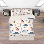 3d Dinosaur Pink Bedding Set Bedroom Decor