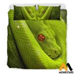 Snake Red Eye King Printed Bedding Set Bedroom Decor