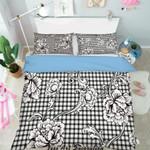 3d Black White Flowers Pattern Bedding Set Bedroom Decor