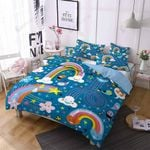Rainbow Cloud For Kids 3D Printed Bedding Set Bedroom Decor