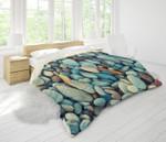 3d Blue Stone Bedding Set Bedroom Decor