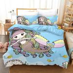 3d Cartoon Blue Mermaid Bedding Set Bedroom Decor