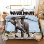 3d Elephant Pattern Sky Bedding Set Bedroom Decor