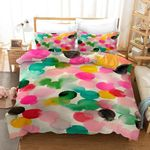 3d Abstract Watercolor Flowers Comfortable Bedding Set Bedroom Decor