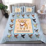 Cute Chihuahua Cartoon Bedding Set Bedroom Decor