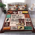 Cowboy Cow Girl Horse Love Bedding Set Bedroom Decor