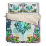 Thistle Flower Blue Bedding Set Bedroom Decor