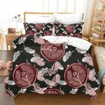 3d Color Abstract Feathers Pattern Bedding Set Bedroom Decor