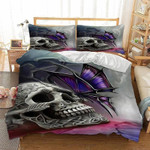 3D Butterfly Skull Printed Bedding Set Bedroom Decor