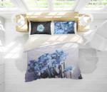 3d Blue Flowers Bedding Set Bedroom Decor